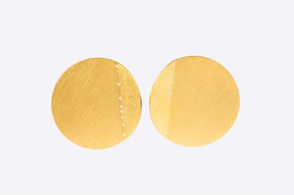 Cser05 Gold Plated Earrings Moon