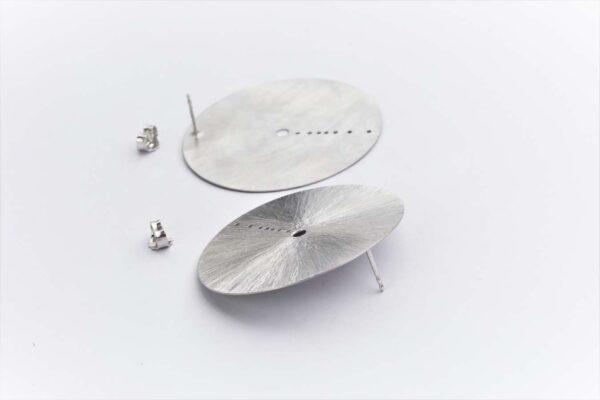 Cser08 3silver Earrings Shine