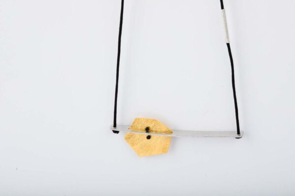CSPE02 1Silver & Gold Plated Pendant Cut