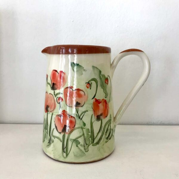 Kkjupo01 Ceramic Jug With Poppies