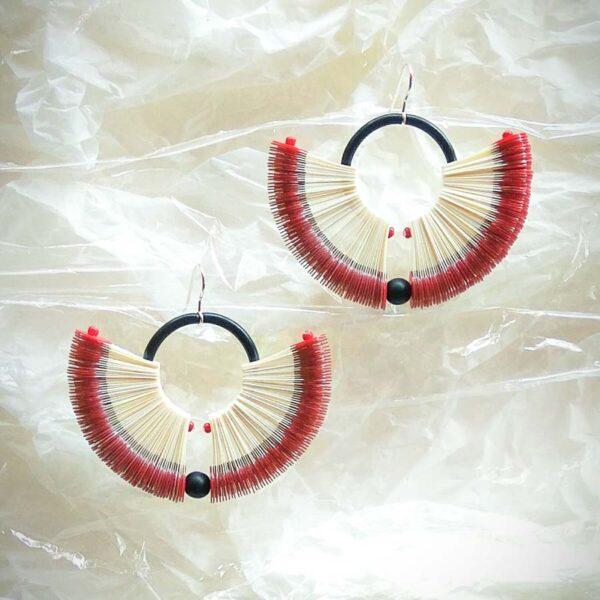 Meercl02 Cleo Earrings Bordeaux