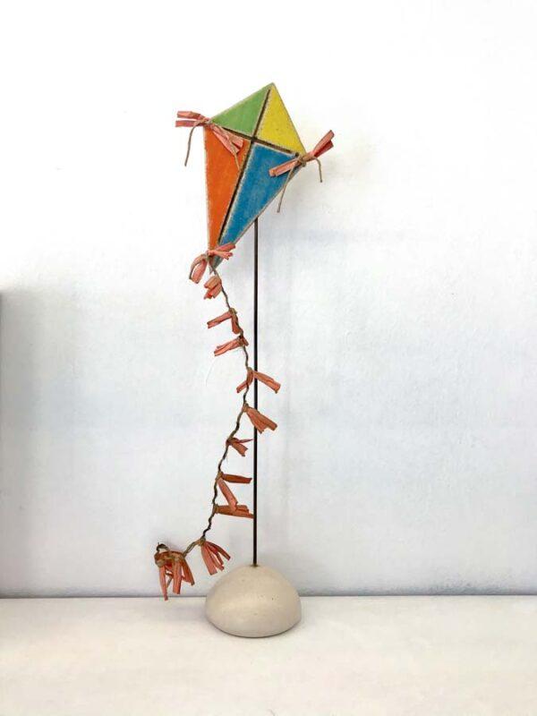 Stkidiba01 Ceramic Diamond Shape Kite With Stand