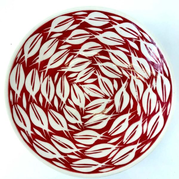 Tkbore01 Porcelain Bowl Red Fish