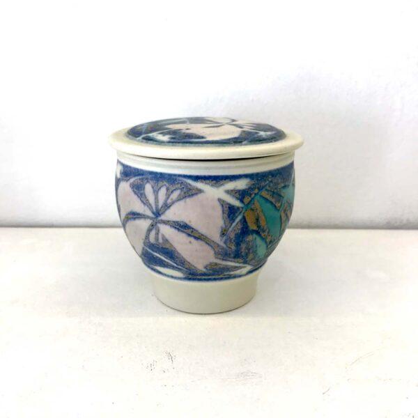 Tkbxpu01 01 Porcelain Small Container Purple Aquamarine