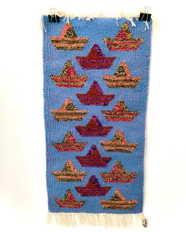 Tploom01 Woolen Loom Woven Tapestry With Ships